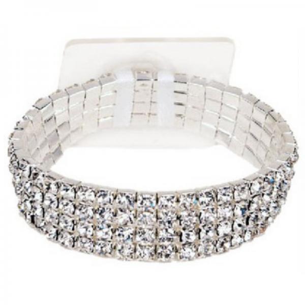 silver diamante wide